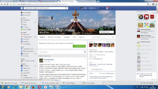 Grup Pasar Online Kotabumi Lampung Utara Dijejali 20 Ribuan Anggota