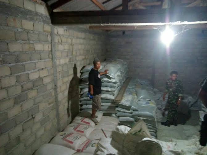 Pabrik penggilingan padi dan gudang beras milik Purba di Desa Ramanaji, Kecamatan Raman Utara, Lampung Timur, menjadi tempat penyimpanan pupuk palsu | ist