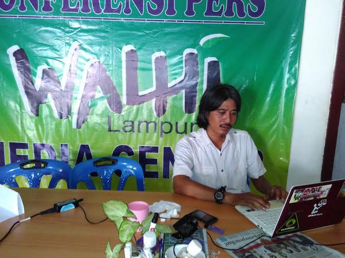 Direktur Walhi Lampung Hendrawan | Andi/jejamo.com