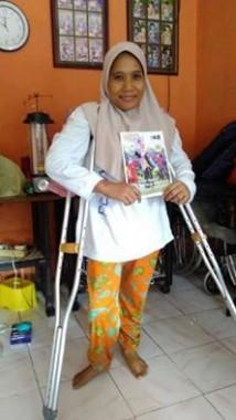 Murwati Penjahit Penyandang Disabilitas di Bandar Lampung Ini Komitmen Sedekah