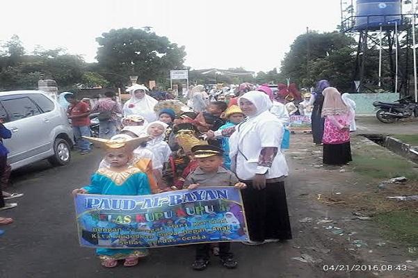 Peringati Hari Kartini, 160 Siswa PAUD di Daya Asri Tulangbawang Barat Pawai 1 Kilometer
