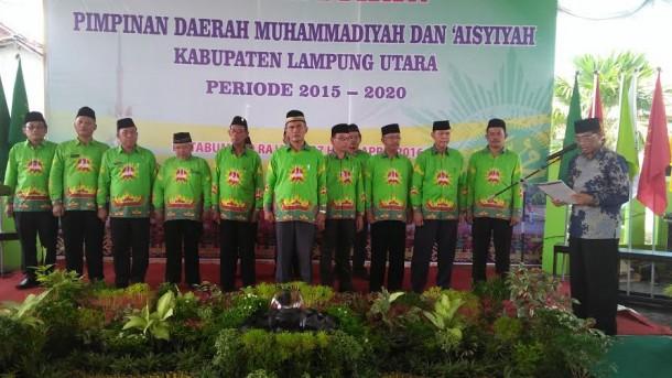 Pengurus PD Muhammadiyah Lampung Utara periode 2015-2016 | Lia/jejamo.com