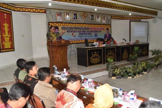 Sekretaris Daerah (Sekda) Kabupaten Lampung Utara Samsir saat memberikan sambutan | Lia/jejamo.com