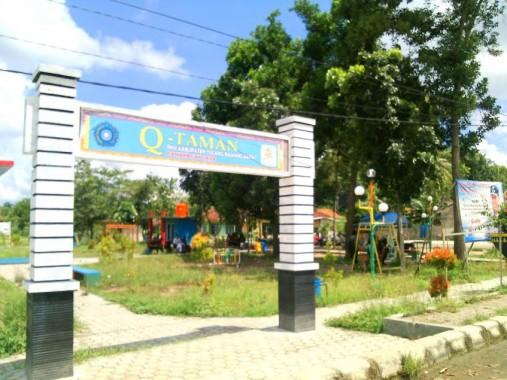Q-Taman, ruang terbuka hijau yang berada di Tiyuh Panaragan Jaya, Kecamatan Tulangbawang Tengah, Tulangbawang Barat. | Rengki/Jejamo.com