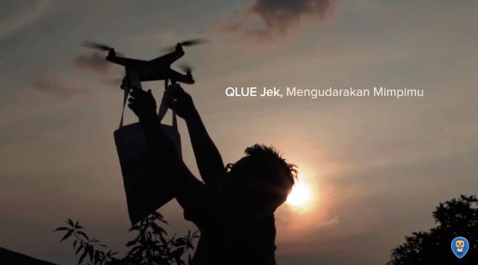 April, Qlue-Jek Jasa Pengiriman Online Berbasis Drone Mulai Beroperasi?