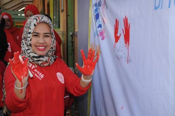 Ketua TP PKK Tulangbawang Barat Ikuti Kegiatan Indonesia Bebas TB