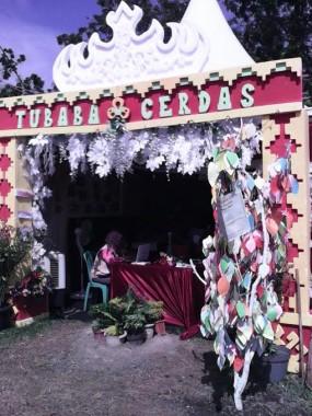 Stan Tubaba Cerdas dalam pameran dan karnaval memeriahkan HUT ke-7 kabupaten ini, Senin, 4/4/2016. | Ist