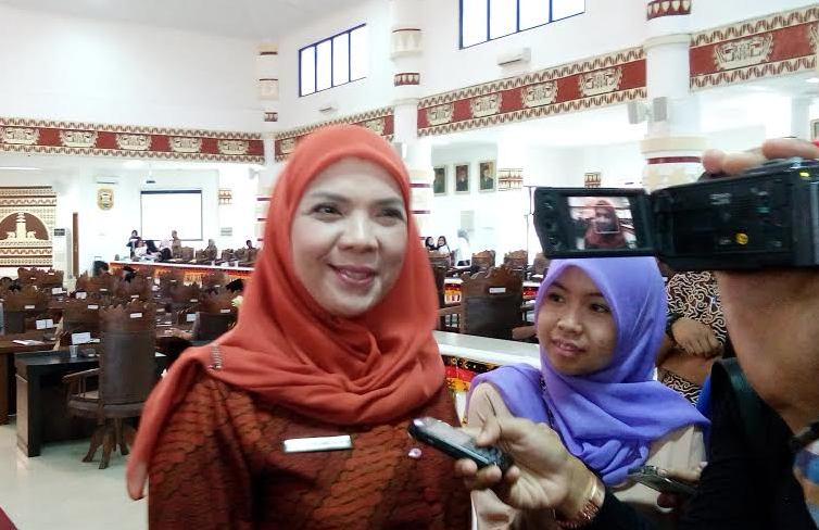 Ketua Tim Penggerak PKK Kota Bandar Lampung Eva Dwiyana. | Arif Wiryatama/Jejamo.com