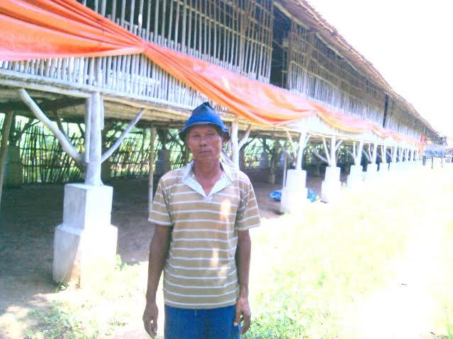 Rusidi Reguk Untung dari Usaha Ayam Potong di Tulangbawang Barat