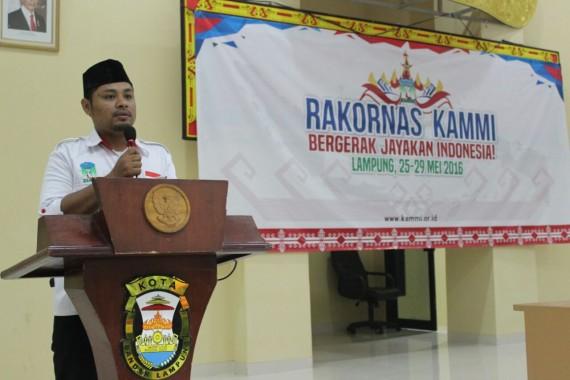 Ketua Umum KAMMI Lampung Asis Budi Santoso. | Aan Kurniawan Saputra/Jejamo.com