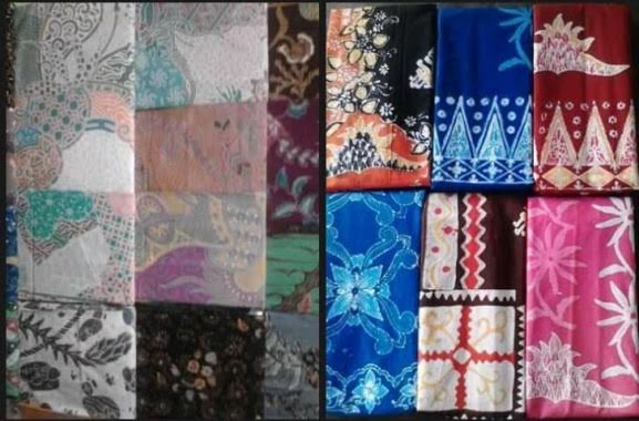 beberapa contoh kain batik cap kota metro, di Sanggar Pengrajin Kain Batik Kota Metro | Tyas/jejamo.com