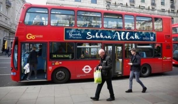 Ratusan Bus di Inggris Ditempel Kalimat Subhanallah Selama Ramadhan
