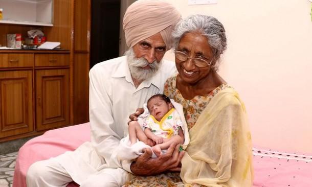 Nenek 72 Tahun Asal India Ini Melahirkan Anak Pertamanya