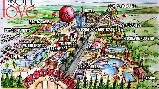 Inilah master plan taman ErotikaLand yang bertema seks dan memicu kontroversi. | cuatro.com