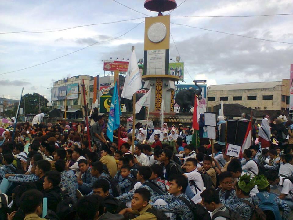 Pawai simpatik Ramadan FKAR dan Forkapmi Bandar Lampung beberapa waktu yang lalu. | Ist