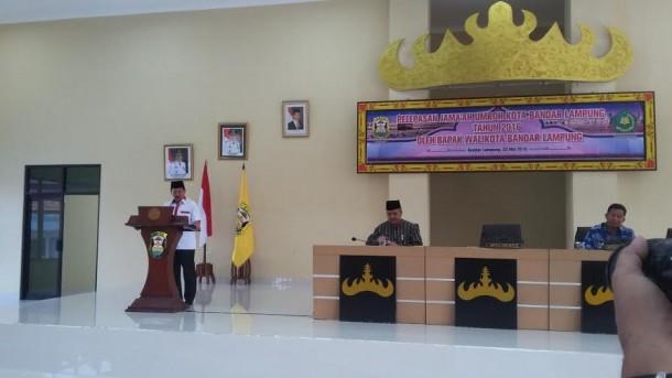 Pawai Simpatik Ramadan, Ribuan Pelajar Tumpah di Tugu Adipura Bandar Lampung