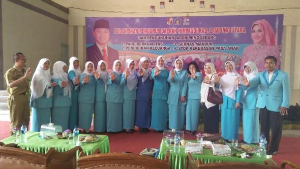 Pengurus Himpaudi Se-Lampung Utara Dilantik