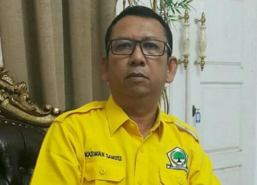 Ketua DPD II Golkar Lampung Tengah Kaswan Sanusi. | Raeza Handani/Jejamo.com