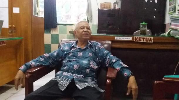 Ketua Yayasan Taman Siswa Telukbetung Bandar Lampung Ki M Subarjo. | Arif Wiryatama/Jejamo.com