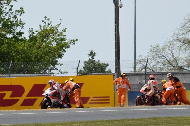 Jatuh Bersamaan dengan Dovizioso pada MotoGP Le Mans, Ini Kata Marquez