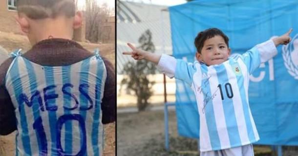 Diancam Taliban, Bocah Penggemar Messi Ini Lari Dari Negaranya