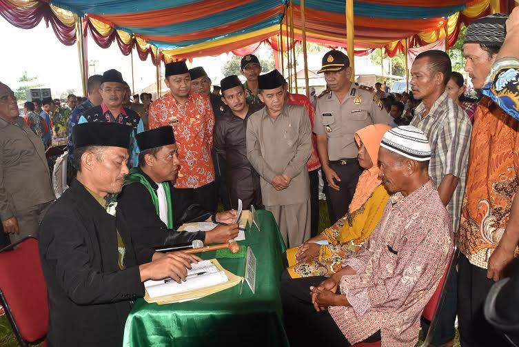 Disdukcapil Lampung Utara Gelar Nikah Keliling di Sungkai Selatan