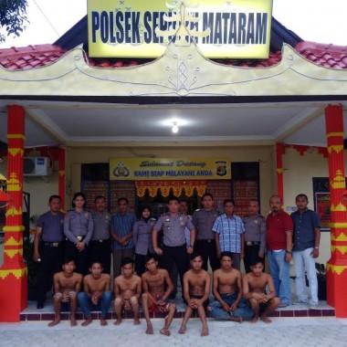 Kurang 24 Jam, 8 Pelaku Pemerkosaan di Lampung Tengah Dibekuk