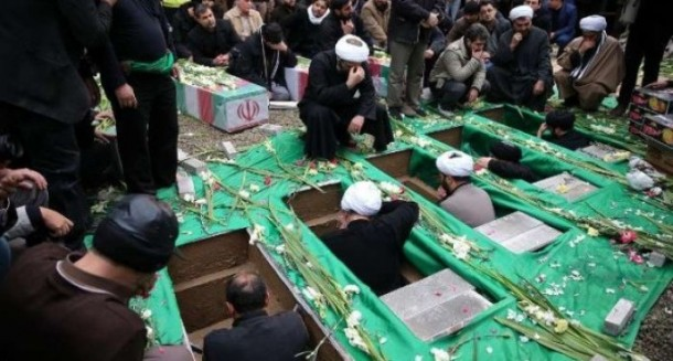 Pemakaman pasukan Iran