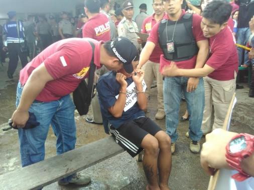 Polresta Bandar Lampung menggelar rekonstruksi pembunuhan, Selasa, 3/5/2016. | Andi Apriyadi/Jejamo.com