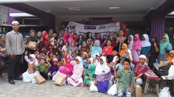 Salah satu kegiatan Yatim Mandiri Lampung. | Ist