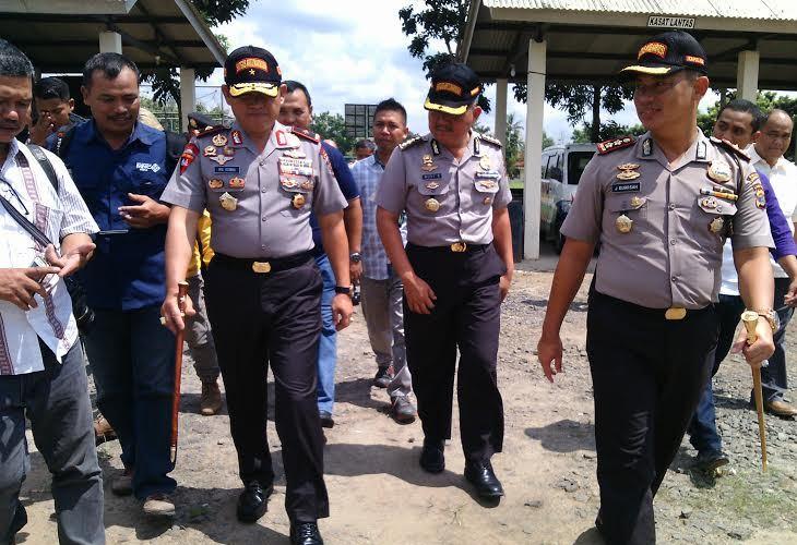 Kapolda Lampung Brigjen Pol Ike Edwin melakukan kunjungan kerja di Kabupaten Lampung Timur, Selasa, 10/5/2016. | Parman/Jejamo.com