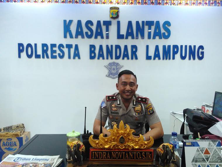 Kepala Satuan Lalu Lintas Polresta Bandar Lampung, Kompol Indra Novianto. | Andi Apriadi/Jejamo.com