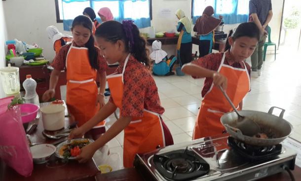 JAPFA4Kids Gelar Lomba Koki Cilik di SDN 1 Jabung Lampung Timur