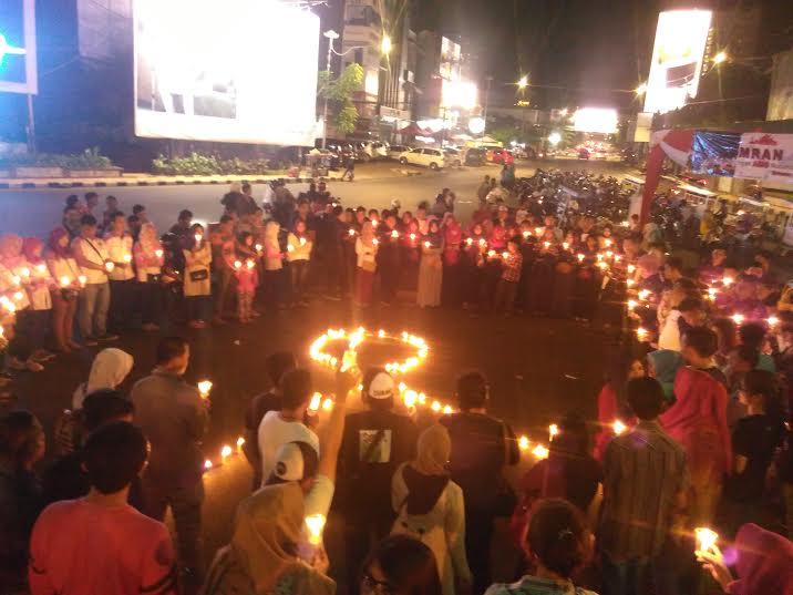 Malam Renungan, Odha Lampung Suarakan Stop Diskriminasi Penderita AIDS