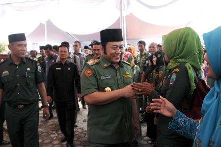 Bupati Zainudin Hasan saat hadir dalam Musrenbang Kecamatan Palas, Senin 29/2/2016. | Diskominfo Lampung Selatan