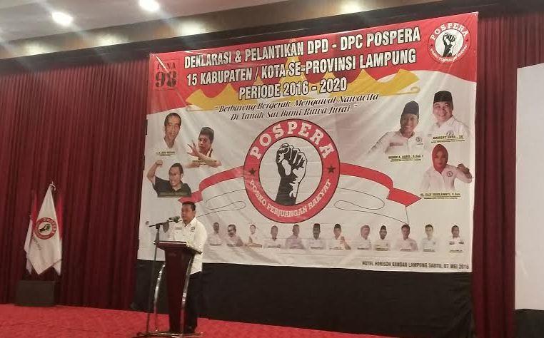 Deklarasi Pengurus, Pospera Serukan Semangat Kawal Pembangunan Lampung