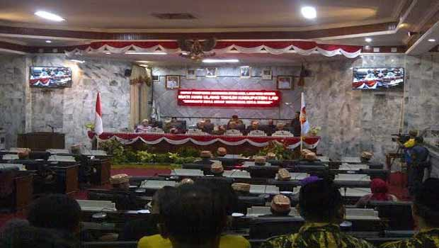DPRD Lampung Utara menggelar rapat paripurna istimewa memperingati HUT ke 70 Kabupaten Lampung Utara di Gedung DPRD setempat, Rabu, 15/6/2016 | Lia/jejamo.com