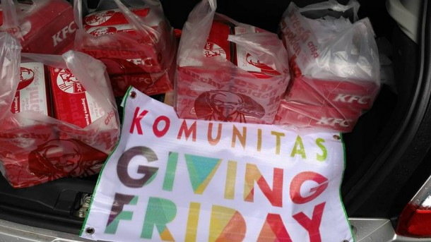 Paket makanan Giving Friday. | Ist