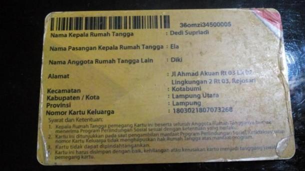 Penyaluran Kartu BLSM di Kotabumi Lampung Utara Morat-Marit