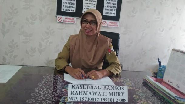 Kepala Sub Bagian Bantuan Sosial Pemkab Lampung Utara Rahmawati Mury | lia/jejamo.com