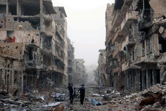 Kehancuran akibat perang Suriah