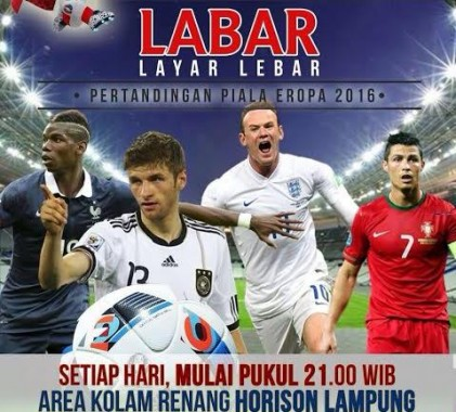 Hotel Horison Lampung Gelar Nobar Piala Eropa