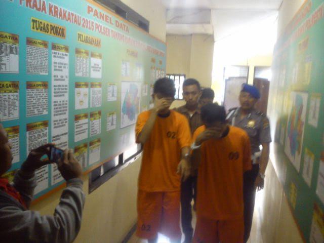 Motor Masuk Jurang, Dua Pencuri Uang di Toko Cat Sukadanaham Bandar Lampung Diringkus Polisi