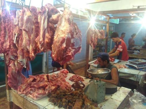 Pedagang Pasar Tugu Bandar Lampung Sebut Daging Impor Pemerintah Tidak Enak