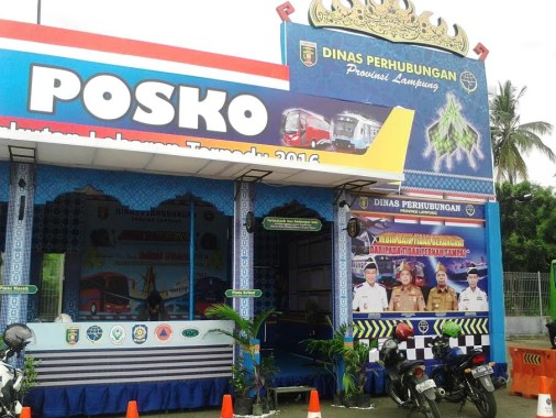 Posko Angkutan Lebaran Terpadu Terminal Rajabasa Bandar Lampung. | Sugiono/Jejamo.com