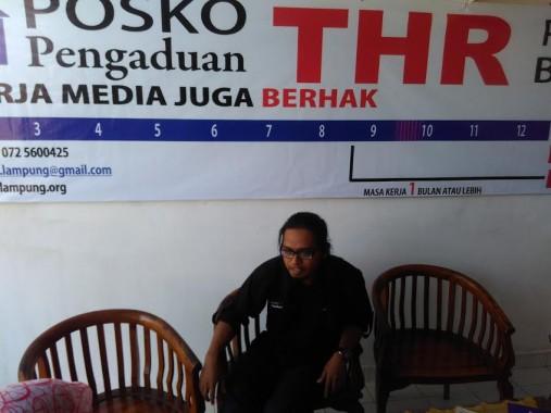 Ketua Posko Induk Pengaduan THR LBH Bandar Lampung Candra Bangkit. |Andi Apriyadi/Jejamo.com