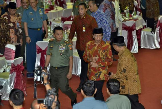 Presiden Tegaskan Tak Akan Membubarkan Koramil dan Kodim