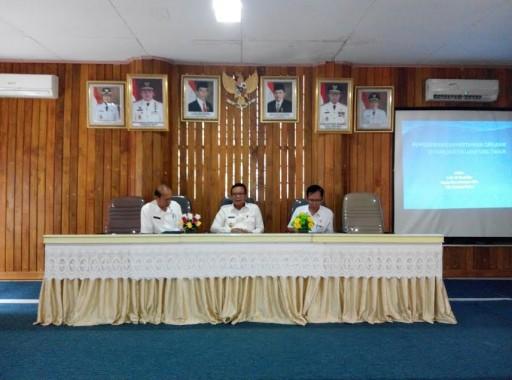 Rapat bersama dalam rangka pengembangan pertanian organik di Lampung Timur, Rabu, 22/6/2016. | Suparman/Jejamo.com