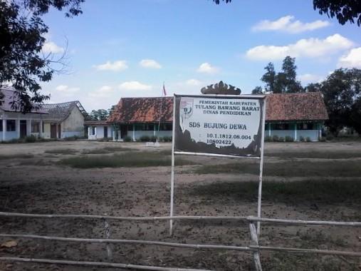 Kondisi SDS Bujung Dewa, Kecamatan Pagar Dewa, Kabupaten Tulang Bawang Barat |Mukaddam/jejamo.com