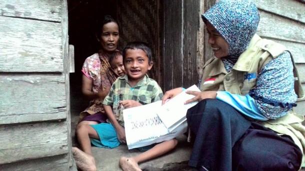 Samsul, penyandang disabilitas di Dente Teladas, Tulangbawang. | PKPU Lampung